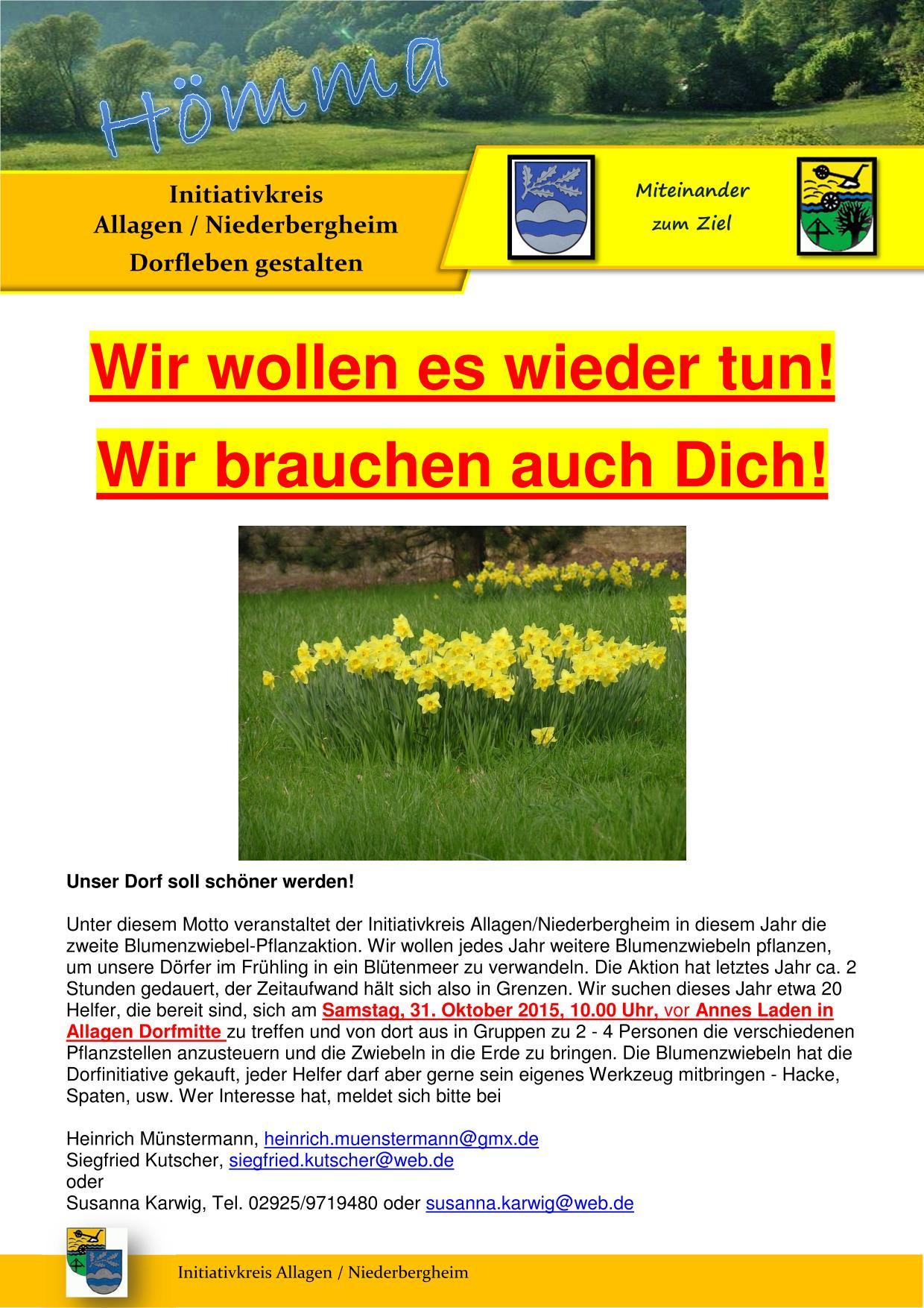Einladung zur Blumenpflanzung