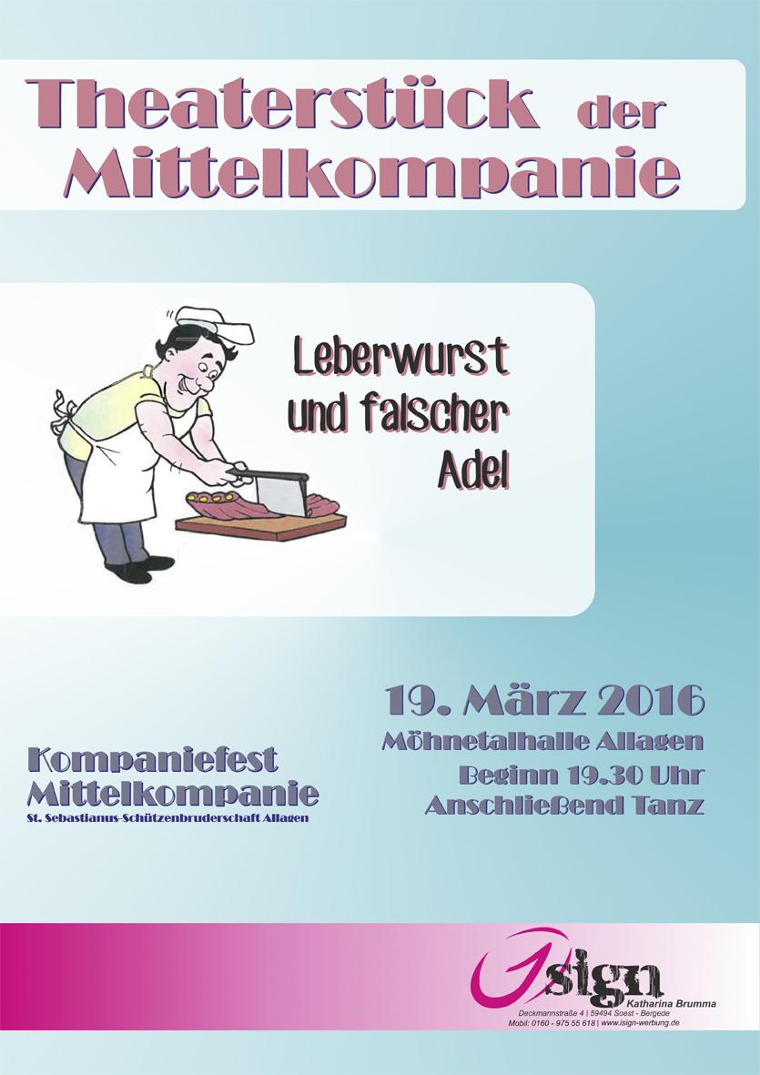 Plakat Theaterstück Mittelkompanie 2016