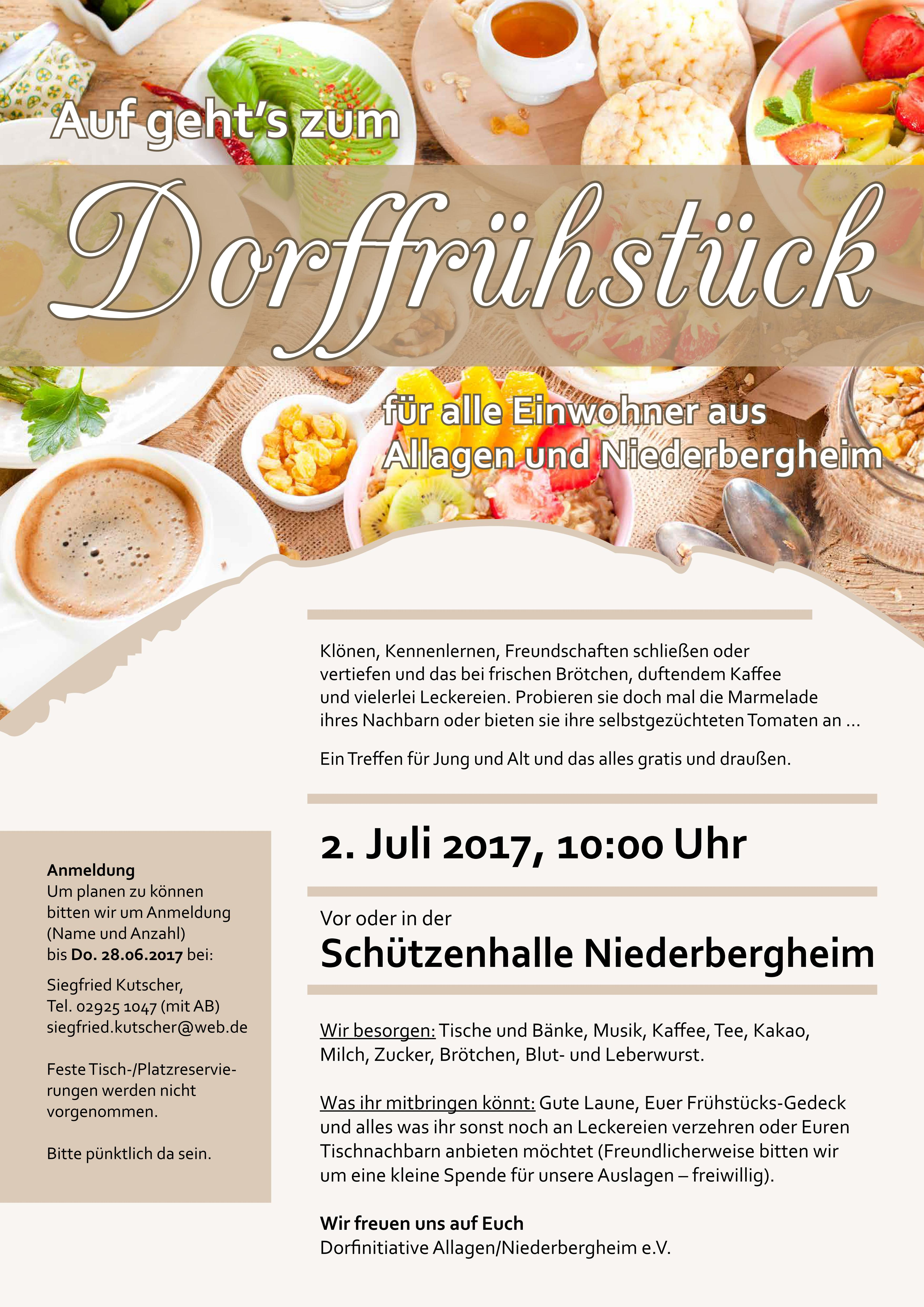 Plakat Allagen Dorffrühstück